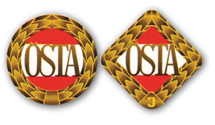 Ansicht der beiden Östaabzeichen in gezeichneter Form